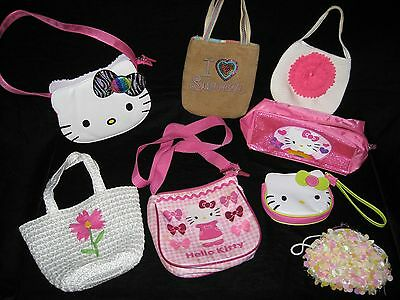 Little Girl Hand bag Lot that includes Hello Kitty and cute hand purses