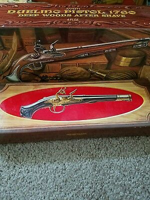 Vintage Lot of 2 Avon Dueling Pistols Cologne Bottles with Boxes Collectibles
