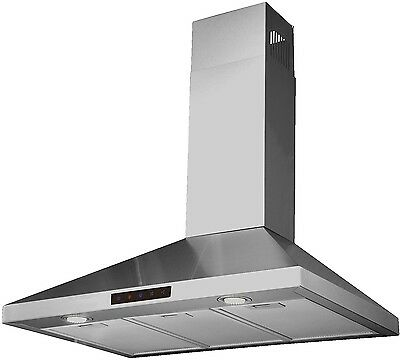 Kitchen Range Hood Touch Screen Control Panel STL75 Stainless Steel Wall Mount