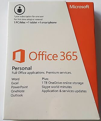 Microsoft Office 365 Personal 1 PC/ MAC +1 tablet +1 smartphone