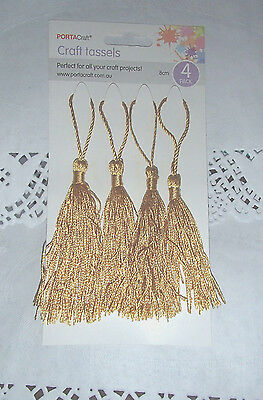 Pack of 4 gold craft TASSELS