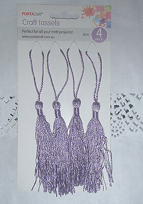 Pack of 4 lilac craft TASSELS