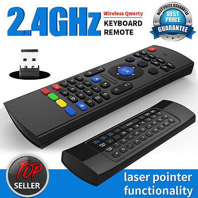 Wireless Remote Control Keyboard Air Mouse 2.4G For KODI XBMC Android TV Box PC