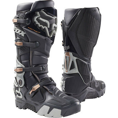 NEW Fox Racing 2018 Instinct Charcoal Motorbike Adventure Enduro Offroad Boots