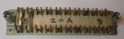 Mil Spare part 3AG Fuse holder for 11 fuses and 2 Bayonet lamps Aluminum frame