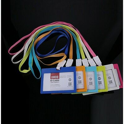 Neck Plastic New Bus Work Office Strap Badge  Pass Lanyard Card Wallet Id Holder