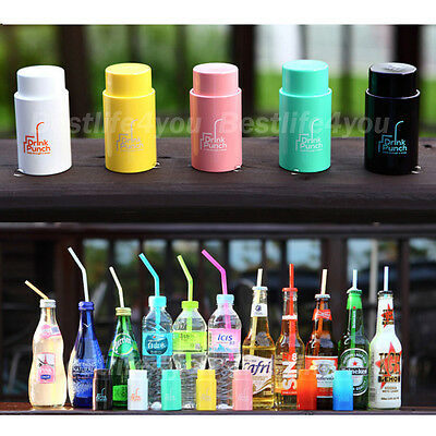Drinking Punch Through straw Bottle Beer for Driving Make-up Outdoor Sports Kids