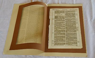Page/Leaf from 1611 First Edition King James Bible
