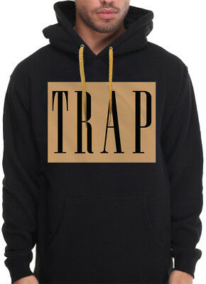 PINK TRAP HOODIE sleeve Print Trappin Just Trap House NY Rap