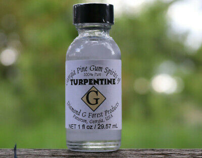 1 Bottle of 100% Pure Gum Spirits of Turpentine (Organic) by Diamond G Forest