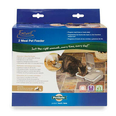 Eatwell 2 Meal Automatic Pet Feeder - Ideal Weekend 2 Meal Pet Feeder