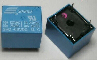 5PCS New Original SRD-06VDC-SL-C 6V SONGLE Power Relays 6-