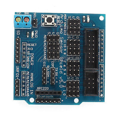 New Sensor Shield Digital Analog Module Servo Motor for Arduino UNO R3 MEGA V5