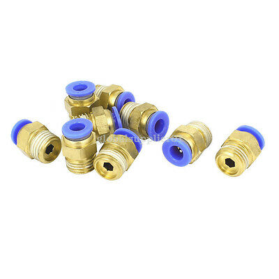 9 Pcs 1/4BSP x 6mm Push in Pneumatic Air Quick Connect Tube Fitting Coupler