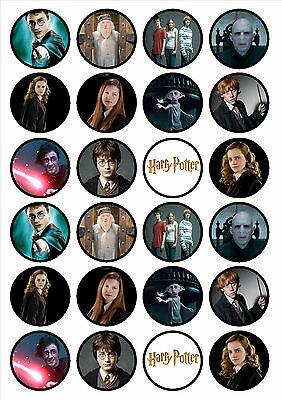 24 X Harry Potter Cupcake Topper Edible image wafer paper cup cake Decoration