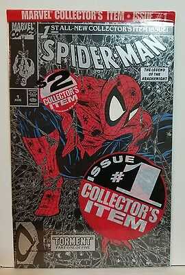 Spider-Man #1 High Grade Nm/nm+ Silver Polybag Sealed Mcfarland 1990