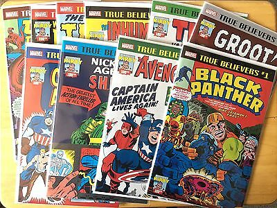 MARVEL TRUE BELIEVERS Jack Kirby Set Of 10 Conics All High Grade