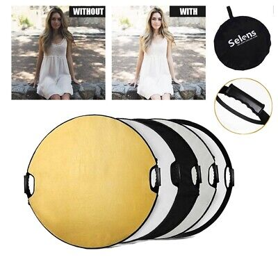 "43"" 110cm 5-in-1 Photography Studio Multi Photo Disc Collapsible Light Reflector"