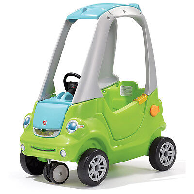 Step2 Easy Turn Coupé Ride-on Toy Car Kids Children Toddler Green+Grey 845100