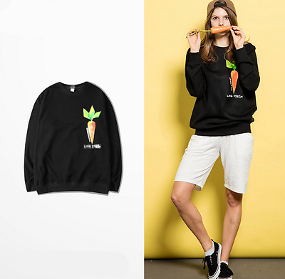 hooded Couples UNISEX Male Female Fall Loose Sweater Round Neck Hip hop