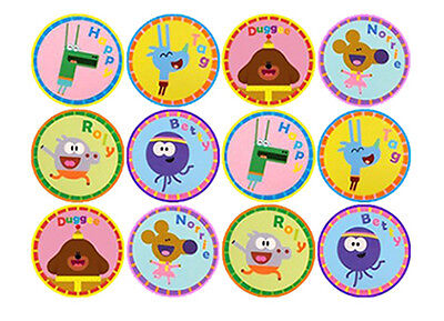 12 Hey Duggee Edible 4Cm Wafer Paper Cupcake Cup Cake Decoration Images Toppers