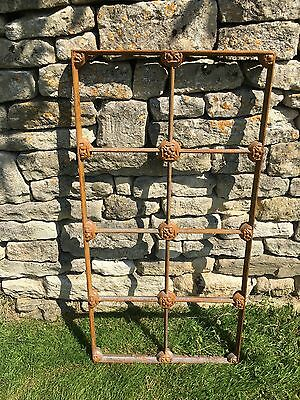 Heavy Vintage/Antique Cast Iron 8 Pane Industrial Metal Window Frame