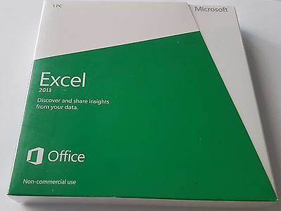 Microsoft Excel Non-commercial 2013 DVD Install