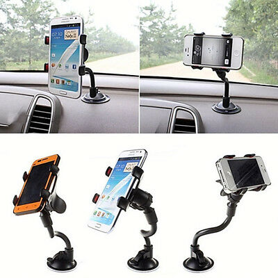 360° Universal In Car Windscreen Mount Holder For GPS Mobile Phone Apple Samsung