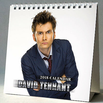 David Tennant Desktop Calendar 2018 NEW + FREE GIFT 3 Stickers Dr.Who