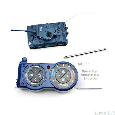 Radio Remote Controlled RC tank Shooting 1/72 Military Blue Carefully Designed