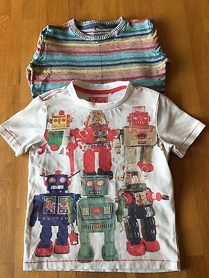 ***cute Robot Tshirt And rainbow Striped Jumper Ages 4-5****