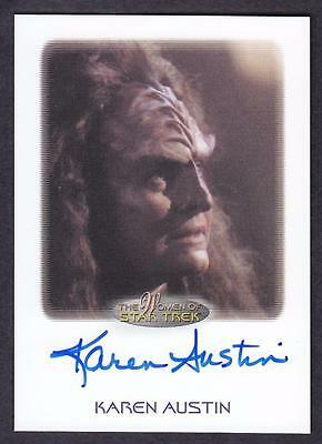 2017 Women Of Star Trek  Autograph / Auto Karen Austin As Miral