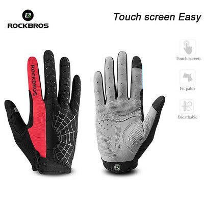 Rockbros Cycling Men Thermal Winter Full Finger Windproof Touch Screen Gloves