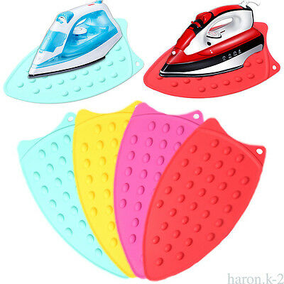 New Silicone Iron Hot Protection Underlay Iron Stand Mat Rest Ironing Pad Boards