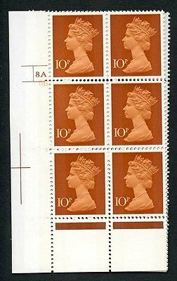 SGX885 1971 10p orange-brown & chestnut cyl 8A6B no dot & matched with traffic