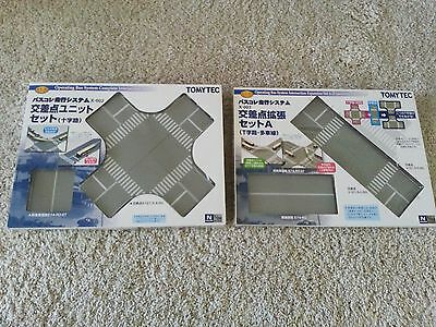 2 NEW SETS - Tomytec Moving Bus System Expansion Intersection X-002 and X-003