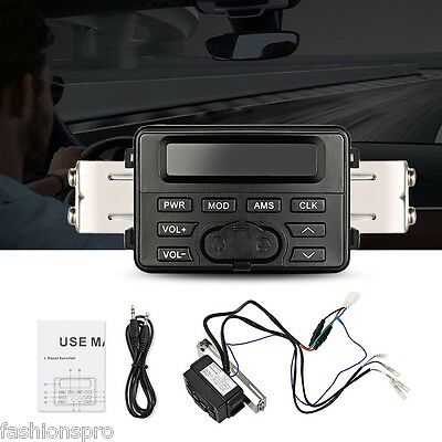 DC 12V MT723 Motorcycle BluetoothAudio Player FM Radio Host Support External MP3
