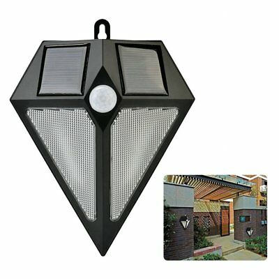 6 LED Solar Motion Sensor Lights PIR Outdoor Garden Light Wall Fence Shed Lamp