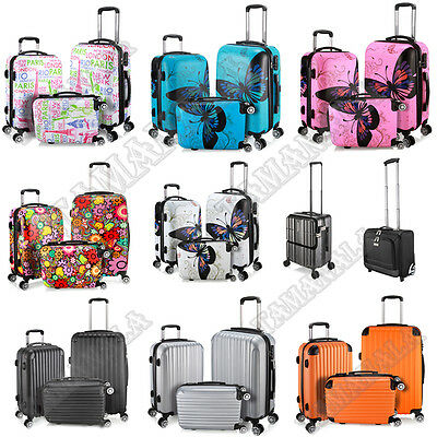 Hard Luggage ABS/ PC Travel Suitcase Laptop Bag Flower/Building/Butterfly Design