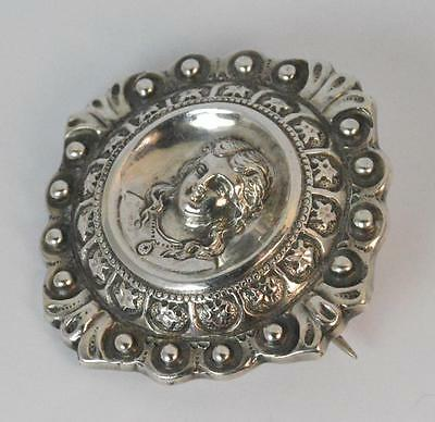 Ladies Victorian Sterling Silver Brooch