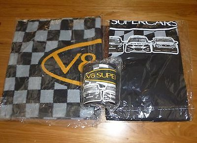 V8 Supercars Pack  Xl T-Shirt - Bar Runner - Stubby Holder
