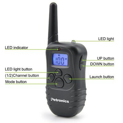 Petronics Dog Training Collar Rechargeable Electric LCD Remote Shock Waterproof