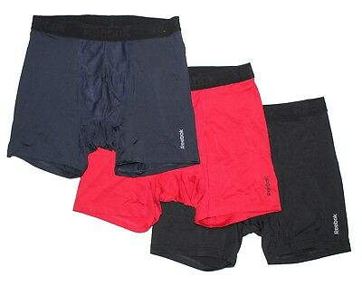 NWT Reebok Men's Breathable Performance Boxer Briefs - 3 Pack