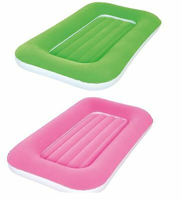 New Green/pink Single Inflatable Air Mattress Kids Sleepover Airbed Children