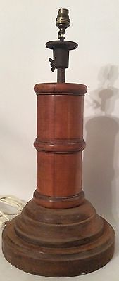Heavy Wooden Table Lamp Base