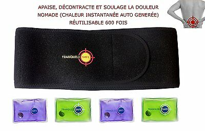 Ceinture lombaire chauffante nomade TRANQUILISAFE® - 4 poches chauffantes offert