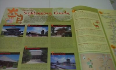 Japan Kyoto Nara Travel Map sightseeing guide leaflet Todaiji Ashura Yukata F/S