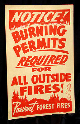 POSTER * CALIFORNIA DIVISION of FORESTRY Burning Permits PREVENT FOREST FIRES