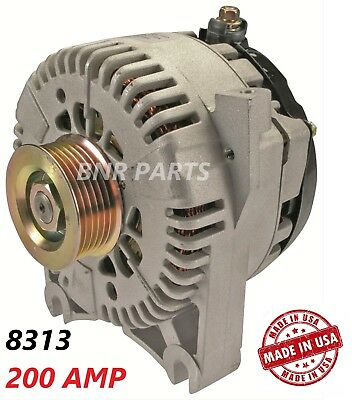 200 AMP 8313 Alternator Ford Lincoln Mercury High Output Performance HD NEW USA