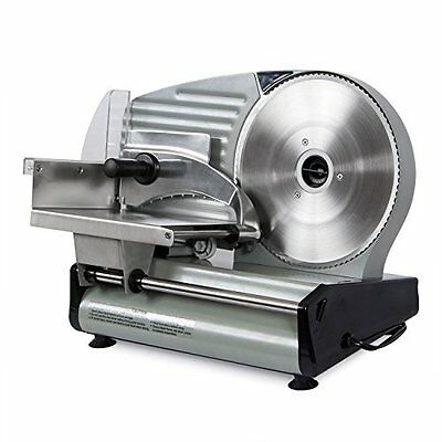 Commercial Electric Meat Slicer Blade Deli Cutter Veggies Kitchen Silver 8.7""